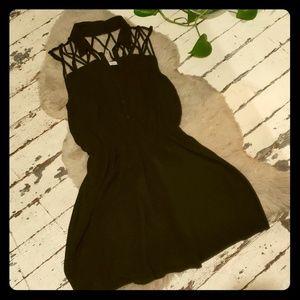 Black Cage Top Dress
